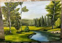 Maria Creanga - Olio su tela - Paesaggio di montagna - 50x70 cm - 2017