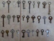 Vintage Antique Skeleton Key Hollow Keys Variety Assortment Lot of 30