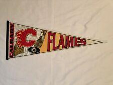 Vintage 90s Calgary Flames NHL Hockey Trench Pennant