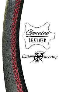 FOR VOLVO VNL TRUCK 98-16 Perforated Leather Steering Wheel Cover Multi St RED