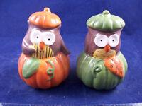 Owl In Pumpkin Novelty Salt and Pepper Shaker Set by Essential Home 195B18BIRD