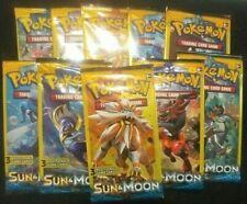 10 Pokemon Sun & Moon: Base Set - 3 Card Booster Packs