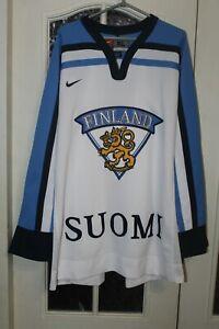 Finland Suomi National Team Olympics Vintage Hockey Shirt jersey trikot Size XL