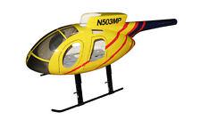 MD 500 E jaune COQUE DE GFK 500 Heli,par exemple T-Rex fuselage Hughes