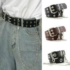 Women Punk Chain Fashion Belt Adjustable Waistband With Eyelet Chain Belt Sim