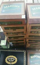 Maroma Lonsdale Wood Cigar Box Honduras