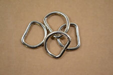 "Dee Ring - 1 1/2"" Nickel Plated - Heavy Weight - Wire Welded - Pack of 6 (F407)"