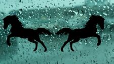 HORSES 2x Vinyl Decal Stickers Window Car Body Bumper Wall Any smooth surface
