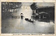 CPA Porte d' IVRY Barriere de l'Octroi Inondations 1910 (569982)