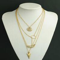 Hot Charm Fashion Women Pendant Gold Chain Choker Statement Bib Necklace Jewelry