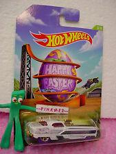 2014 Happy EASTER #5 Hot Wheels METRORAIL NASH METROPLITAN☆White☆Egg~Walmart