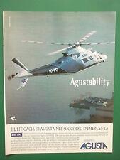 10/1991 PUB GRUPPO AGUSTA HELICOPTERE AGUSTA A109 MAX HUBSCHRAUBER ITALIAN AD