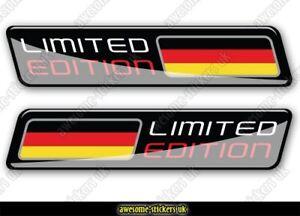 2 x GERMAN flag stickers 004 MERCEDES AUDI VW Volkswagen cars decals vinyl van