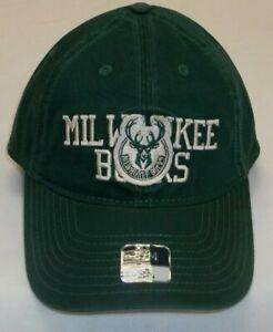 NBA Milwaukee Bucks Slouch Flex Adidas Hat - Size S/M - New EZ94Z
