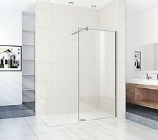 Wet Room Panel: 1300mm Wide Screen, 8mm Easy Clean Glass.