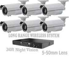 Long Range Wireless Night Vision Security 1200TVL Cameras Transmit Up To 2500ft
