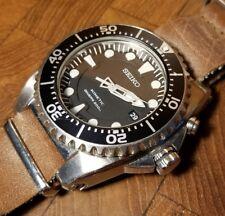 Nice SEIKO Scuba Diver's 200m Kinetic Black Men's Watch Model 5M62-0BL0