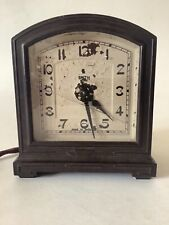 More details for vintage 1930s bakelite bedside electric clock by smiths.