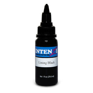Lining Black - Intenze Tattoo Ink - Pick Your Size 1oz, 2oz, or 4oz Bottle