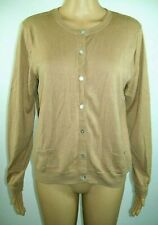 Womens Cardigan Size L Light Beige Autumn Fall Button Up Sweater With Pockets