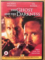 El Fantasma And The Darkness DVD 1996 León Hunter Drama Cine con Michael Douglas