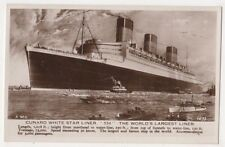 Cunard White Star Liner, The World's Largest Liner Shipping RP Postcard B615