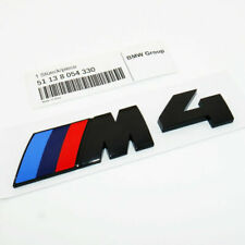 BMW BLACK M4 BADGE REAR EMBLEM GENUINE 51148068579