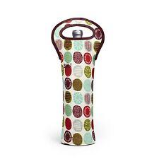 BUILT Neoprene 1 Bottle Tote Bag Insulated Wine Carrier Peppermint Jubilee