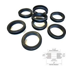 """Lot of 8 Rubber Grommets 2-1/4"""" Inside Diameter - 1/4 Gw - Fit 2-1/2"""" Hole"""
