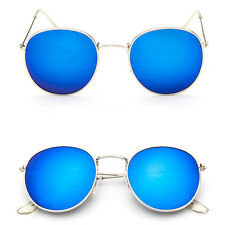New Fashion Men Women's Round Sunglasses  Vintage Retro Oversized Mirror Glasses