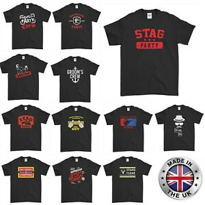 Stag Do T-Shirts Funny Novelty Rude Stag Tee Top Night Out Party Men's Wedding