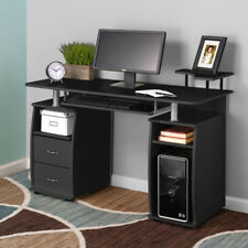 Computer PC Desk Work Station Office Home Raised Monitor&Printer Shelf Furniture