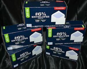 500 Security Envelopes White Mailers Letters Privacy Tint (3 5/8 x 6 1/2 In) NEW