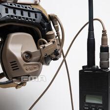 FMA Tactical RAC PTT Headset Earpiece For Fast SF Highcut Helmet Guide Rail