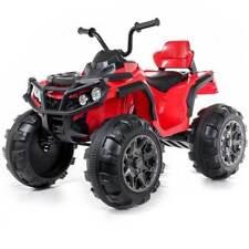 Quad Elettrico Per Bambini Moto ATV 4 ruote Rosso 12V 1 Posto Doppio Motore
