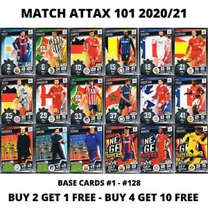 TOPPS MATCH ATTAX 101 2020/21 20/21 BASE CARDS #1 - #128 - CHOOSE YOUR CARDS
