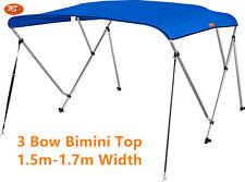 Jetocean 3 Bow 1.5-1.7m Boat Bimini Top Cover Blue Canopy 1.8m Length