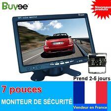 """Caméra De Recul Vision De Nuit + 7"""" TFT LCD Écran Voiture Auto Moniteur 12-24V"""