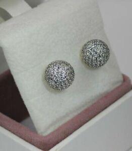 Genuine PANDORA Sterling Silver & CZ Encrusted Drops Earrings 290737CZ S925 ALE
