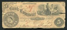 1858 $5 THE BANK OF COMMERCE PHILADELPHIA, PA OBSOLETE CURRENCY NOTE