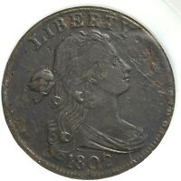 1802 1C Draped Bust Cent, In Holder (59283)