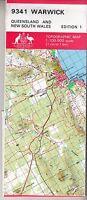 Warwick (QLD)  9341 1:100,000 NATMAP  topographic map new, freepost Australia wi