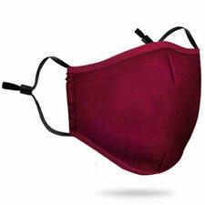 Washable Face Mask Black Reusable Breathable Unisex Double Layer Soft Cotton