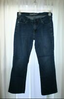 Old Navy Sweetheart Jeans Distressed Women's Size 6 Shrt Bootcut Dark Wash VGUC