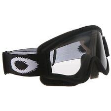 2017 Gafas Oakley O Frame Negro Mate Lente Transparente Motocross Enduro Mx Bmx