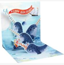 3D Pop Up Greeting Card from Up With Paper - Narwhals - 1195