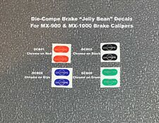 """BRAKE DECALS """"Jelly Beans""""-Choose BRAND & Color, New Blue & Green Dia-Compe etc."""