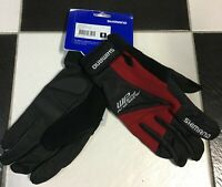 Guanti invernali bici Shimano WP Wind protector windtex red bike winter gloves
