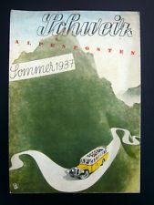 Reiseprospekt Schweiz Sommer 1937
