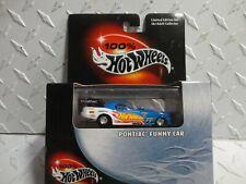 Hot Wheels 100% Black Box Blue Pontiac Funny Car w/Real Rider's